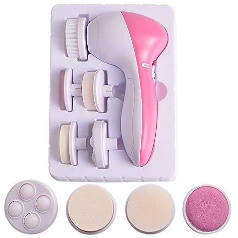 Facial Brush,HOYOFO 5 in 1 Electric Face Cleansing Brush Skin