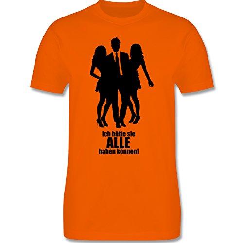 JGA Junggesellenabschied - Ich hätte sie ALLE haben können - Herren Premium T-Shirt Orange