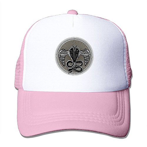 Preisvergleich Produktbild Have You Shop Snake Bite Circle Printing Unisex Adult Funny Mesh Trucker Hats Snapback Meshback Caps Adjustable Pink