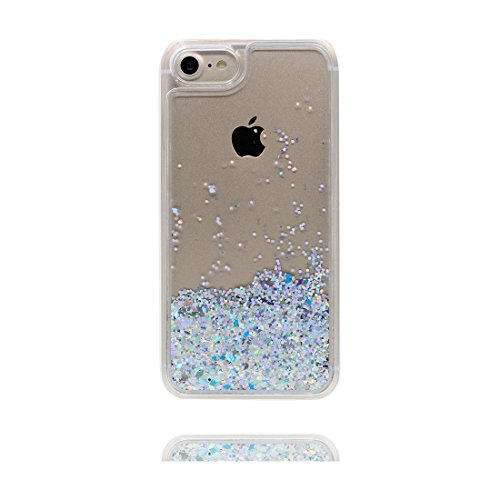 "Hülle iPhone 6, [ Liquid Fließendes Glitzer Bling Bling ] iPhone 6S Handyhülle Cover (4.7 zoll), Floating sparkles, iPhone 6 Case Shell (4.7"") Anti-Beulen & Touchstift- Pink Bling # 2"
