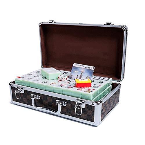 Mahjong Set, Aluminium Fall Verpackung Smaragd Farbe