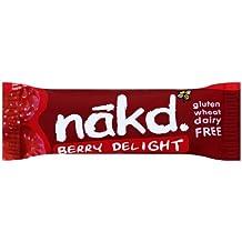 Nakd - Lot de 18 barres Berry Delight à la framboise sans gluten - 35g/unité