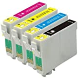 ***FREE POST**** XP-305 xp-312 XP-202 XP-212 XP-102 XP-405 XP-415 XP-205 XP-30 XP-302 Ink Cartridges 1X Black 1X Cyan 1X Magenta 1X Yellow (4-Pack)1 full set ink Cartridges for use in Epson Expression Printers NON Oem by bvhdirect
