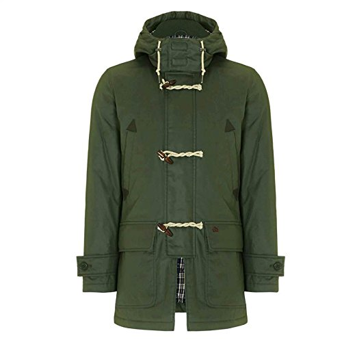 Merc of London Havant, Hooded Parka Mid Length, Manteau Homme, Vert (Dark Khaki), Medium (Taille Fabricant: M)