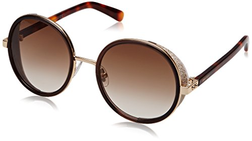 Jimmy Choo Damen ANDIE/S JD J7G Sonnenbrille, Rose Gold Havana/Brown Shaded, 54
