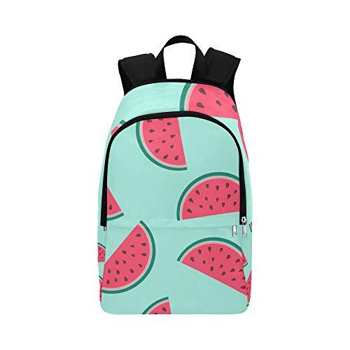 Blaue Wassermelone hat Samen und Thread Casual Daypack Reisetasche College School Rucksack für Herren und Frauen -