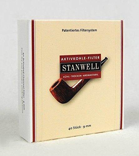 Stanwell - Filtros para pipa (40 unidades, 9 mm)