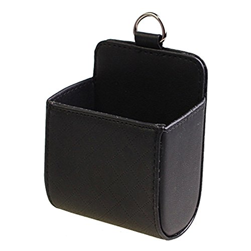 Volle 8-oz-flaschen (myfei tragbar Auto Aufbewahrungsbox, Universal PU Leder Tasche für Handys Fahrzeug Air Vent Outlet Halterung Organizer Tasche Auto Zubehör mit Haken)