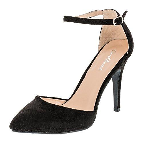Girlhood Modische Damen Schuhe High Heels Sandalen Stilettos M365sw Schwarz 41