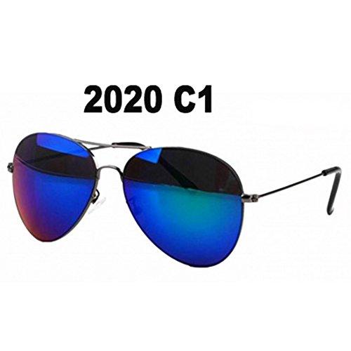 Gankmachine Frauen-Mädchen-Männer Reflektierende Spiegel-Objektiv-Retro-Sonnenbrille-Schatten UV400 Brillen Brillen