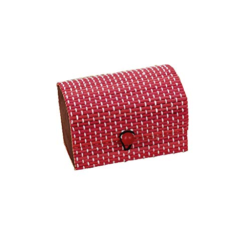 Schmuckkästen,Rifuli® Bamboo Wooden Jewelry Organizer Aufbewahrungsriemen Craft Treasure Case Schmuck Schmuckzubehör Aufbewahrung Schmuckkästen -