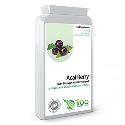 Acai Berry 1000mg 120 Capsules - DOUBLE STRENGTH Freeze Dried Acai Berry - Weight Loss, Cleanse, Detox, Energy, Antioxidant, Health Maintenance, Superfood, UK BEST SELLER from Troo Health Care