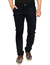 Nimegh Cod Navy Blue Colored Corduroy Casual Solid Trouser For Men's