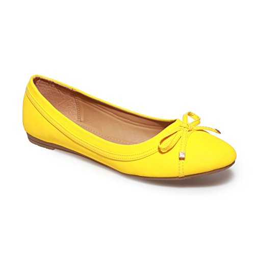 La Modeuse ,  Ballerine donna, giallo (giallo), 41 (Giallo Ballerina)