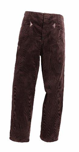 Cordhose mit Lederecken 210-0-200-46 Cordhose, 89 % Baumwolle, 11 % Polyester, Größe 46, Farbe: braun