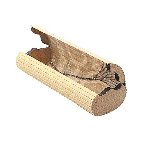 Hombres Mujeres bambú gafas de sol caja Vintage hecho a mano Funda para gafas soporte