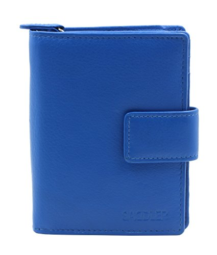 saddler-genuine-soft-leather-zip-round-with-tab-fastener-purse-electric-blue