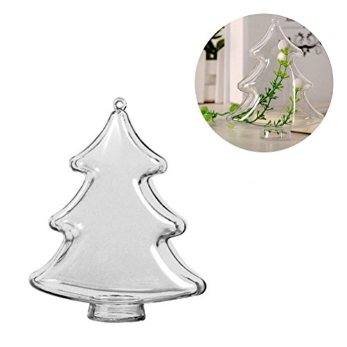 Tinksky albero di natale ciondolo ornamenti plastica trasparente palla di natale appeso decorazione arti e mestieri candy box holder 10cm