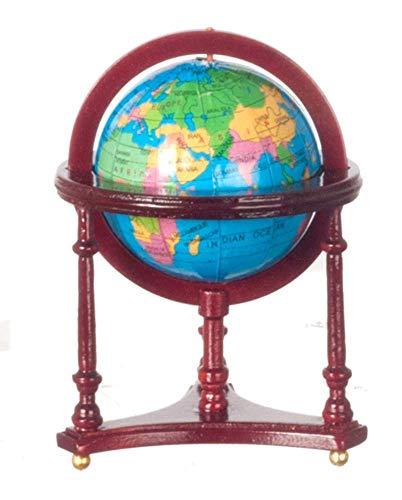 Melody Jane Puppenhaus Miniatur Möbel Viktorianisch Mahagoni Boden Stehend Kugel in Ständer - Mahagoni Böden