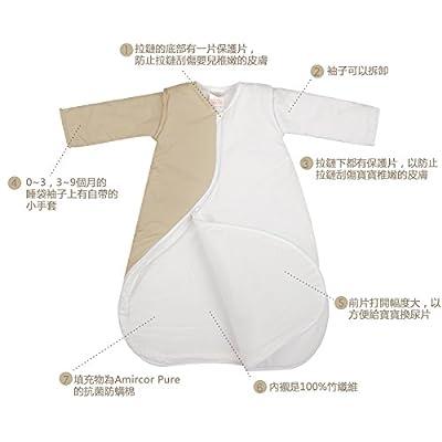 PurFlo bordado sleepsac 1.0Tog (Owl, kiwi, 3–9meses), Saco de dormir para bebé