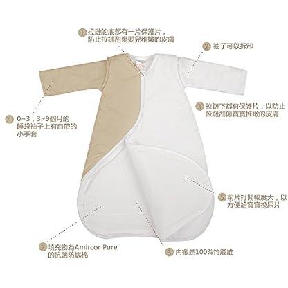 PurFlo – Saco de dormir para bebé con bordado de 1,0 tog (león Kiwi, 18 meses +)