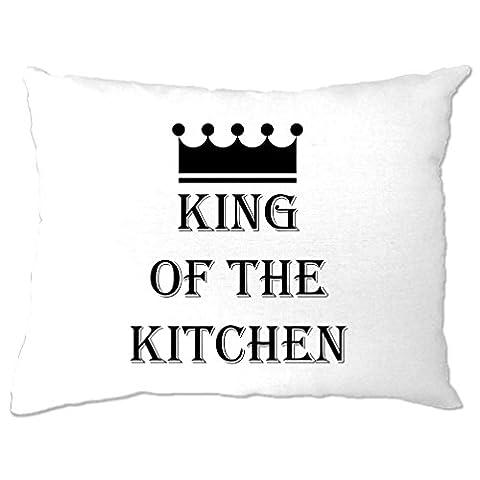 König der Küche Master Chef Kochen Koch Lustiger Slogan Kissenbezuge (Weihnachten Nachrichten Für Den Chef)