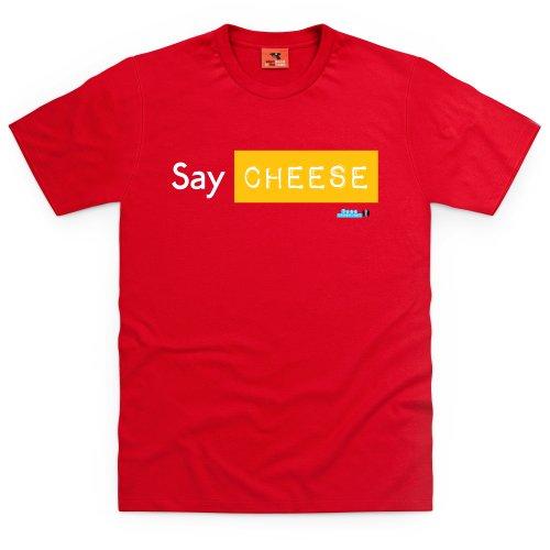 Tube Crush Say Cheese T-Shirt, Herren Rot