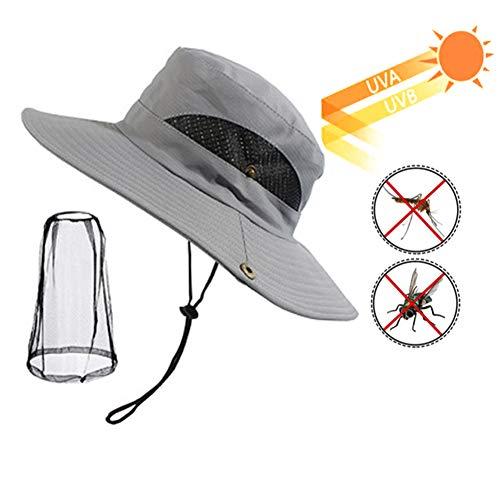 FACAI&SU Outdoor Anti-Moskito-Maske Hut mit Kopf Net Mesh Gesicht UV-Schutz Sonnenhut Männer, Sonne, Sonnenschutz, Angeln, Reisen, Camping, Imkerei, Unkraut ()