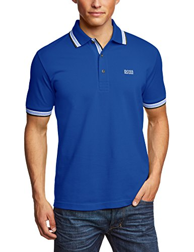 BOSS Herren Poloshirt Paddy Blau (Medium Blue 420) Small