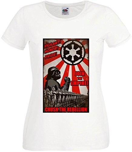 RISKYT - Camiseta - Cuello redondo - para mujer blanco blanco Medium