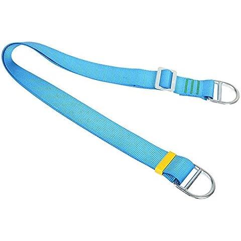 Fionda Outdoor arrampicata, discesa in corda doppia custodia in Nylon con sicurezza , blue 2 meters flat belt