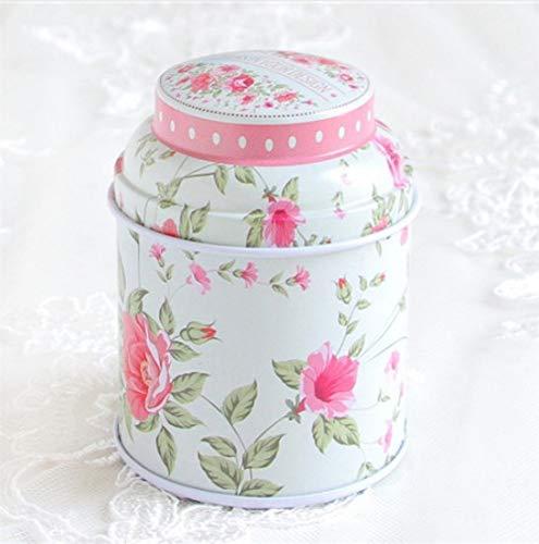 Blechdose für Süßigkeiten, Blumen, Tee, versiegelt, Retro-England-Stil, Blumenmuster,...