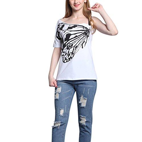 iBaste Femme à La Mode Sans Bretelles Avec Un Coton Style Blanc