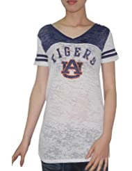 NCAA Auburn Tigers Womens V-Neck T-Shirt / Tee (Vintage Look)