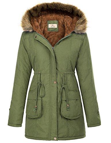GRACE KARIN Mujer Abrigo Chaqueta Parka Militar Anorak