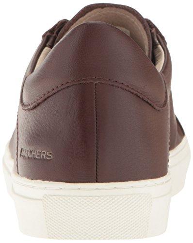 Skechers Vaso - Cordon Femmes Cuir Baskets Dark Brown