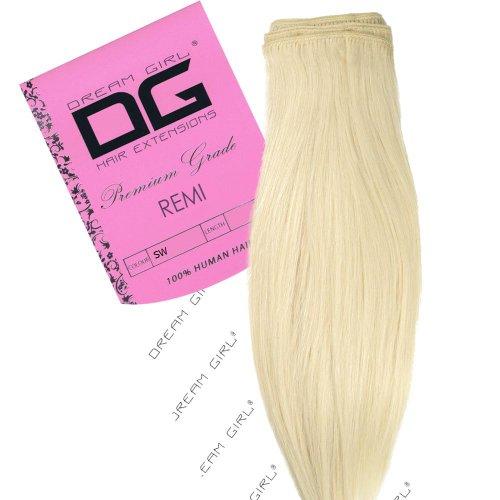 Dream Girl Extensions de cheveux sur trame Couleur 40,6 cm Blanc Neige