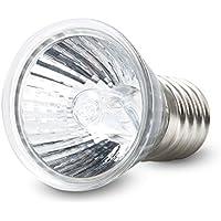 Lámpara de Luz Concentradas para Terrarios,Lámpara Compacta Tropical para Reptil 50W 3.0 UVB Apropiada para Reptil y Batracio glass Blanco, by LC Prime