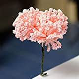 DIY Miniature Beautiful Flowers Ornaments Potted Plant Garden Décor(Pink)