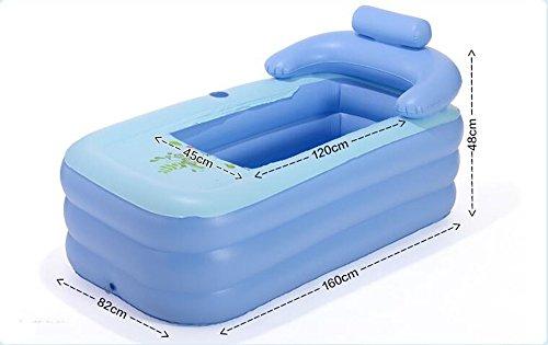 Vasca Da Bagno Gonfiabile Per Adulti : Vasca da bagno gonfiabile per adulti in pvc pvc piscina a pieghevole