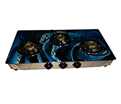Fly Flame05 3-Burner Glass top Gas Stove