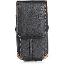 Funda universal universal para teléfono móvil con funda de cinturón Funda para montañismo Funda con mosquetón y ranura para tarjeta negra para 4.7-6.3 pulgadas ( Color : Black 6.3 inch )