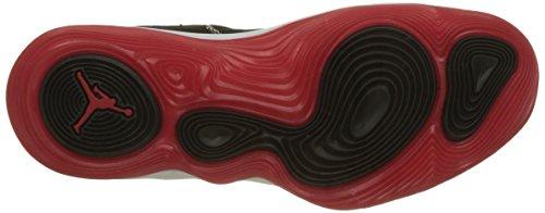 Nike Jordan Lunar Super.Fly, Scarpe da Basket Uomo Nero (Black/university Red White)