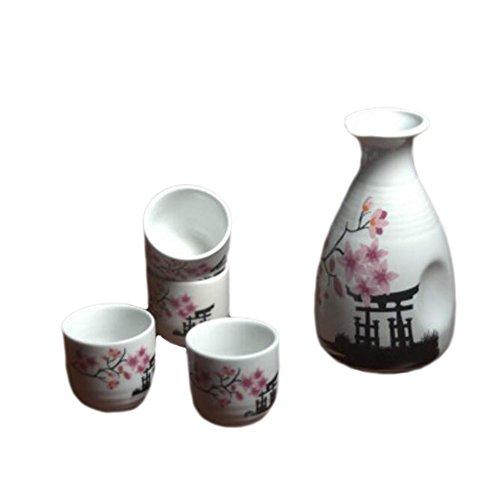 5 PCS Japanische Likör Sake Set Porzellan Keramik Temperatur Wein Cups Handwerk-A01 - Heizung Handwerk
