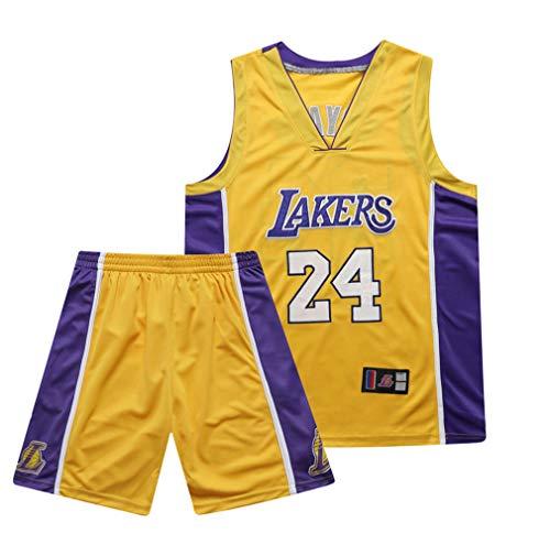 8a97deff282be Jersey Kobe Bryant Los Angeles Lakers # 24# 8 Kobe Trikot, Basketball  Uniform Lakers Kobe Trikot Stickvorgang (S/M/L/XL / 2XL / 3XL),24Yellow,S