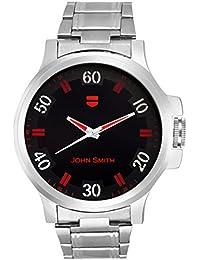 John Smith Black & Red Dial Metal Belt Analog Watch For Men - JS-10101RED_N