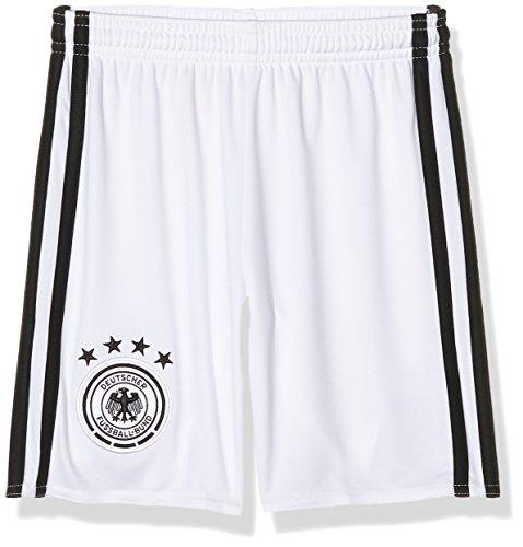 adidas Jungen Fußball/Heim-shorts UEFA Euro 2016 DFB Torwart Replica, White/Black, 11 - 12 Jahre (Herstellergröße : 152 cm)