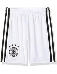 adidas DFB H GK SHO Y Pantalón Corto Línea Selección Alemana de Fútbol, Niños, Blanco / Negro, 140