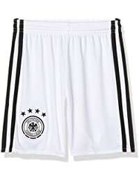 adidas Selección Alemana Fútbol H Gk Sho Y Pantalón Corto, Niños, Blanco / Negro, 11-12 años