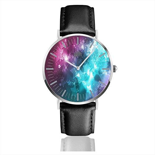 Halten Sie Ruhe Chin Up Heels Down Reiten Schwarz Quarzwerk Edelstahl Lederband Uhren Casual Fashion Armbanduhren -